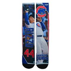 Men's For Bare Feet Chicago Cubs Anthony Rizzo Trading Card Socks
