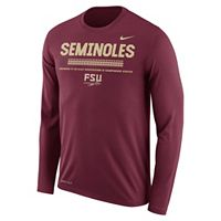Men's Nike Florida State Seminoles Dri-FIT Legend Staff Long-Sleeve Tee