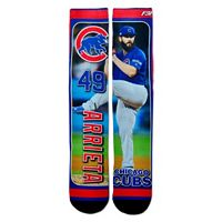 Men's For Bare Feet Chicago Cubs Jake Arrieta Trading Card Socks