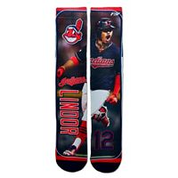 Men's For Bare Feet Cleveland Indians Francisco Lindor Trading Card Socks