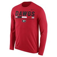 Men's Nike Georgia Bulldogs Dri-FIT Legend Staff Long-Sleeve Tee