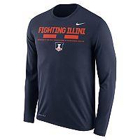 Men's Nike Illinois Fighting Illini Dri-FIT Legend Staff Long-Sleeve Tee