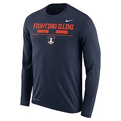 Men's Nike Illinois Fighting Illini Dri-FIT Legend Staff Long-Sleeve Tee