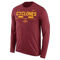 Men's Nike Iowa State Cyclones Dri-FIT Legend Staff Long-Sleeve Tee