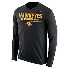 Men's Nike Iowa Hawkeyes Dri-FIT Legend Staff Long-Sleeve Tee