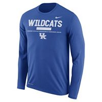 Men's Nike Kentucky Wildcats Dri-FIT Legend Staff Long-Sleeve Tee