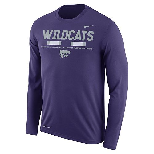 Men's Nike Kansas State Wildcats Dri-FIT Legend Staff Long-Sleeve Tee