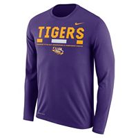 Men's Nike LSU Tigers Dri-FIT Legend Staff Long-Sleeve Tee
