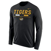 Men's Nike Missouri Tigers Dri-FIT Legend Staff Long-Sleeve Tee
