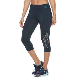 Women's FILA Sport® Geometric Mesh Capri Leggings