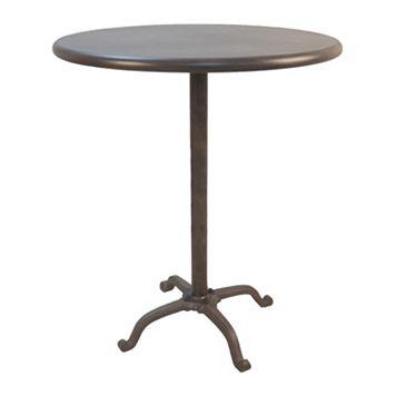 Zayden Round Cast Iron & Steel Bar Table