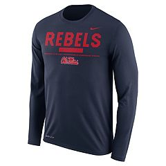 Men's Nike Ole Miss Rebels Dri-FIT Legend Staff Long-Sleeve Tee
