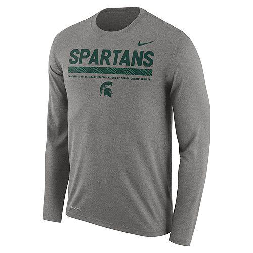 Men's Nike Michigan State Spartans Dri-FIT Legend Staff Long-Sleeve Tee