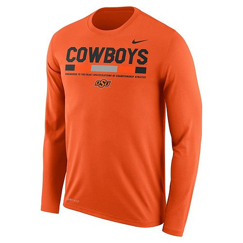 Men's Nike Oklahoma State Cowboys Dri-FIT Legend Staff Long-Sleeve Tee
