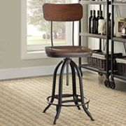 Mason Rustic Industrial Adjustable Stool