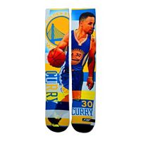 Men's For Bare Feet Golden State Warriors Stephen Curry Pro Stripe Crew Socks