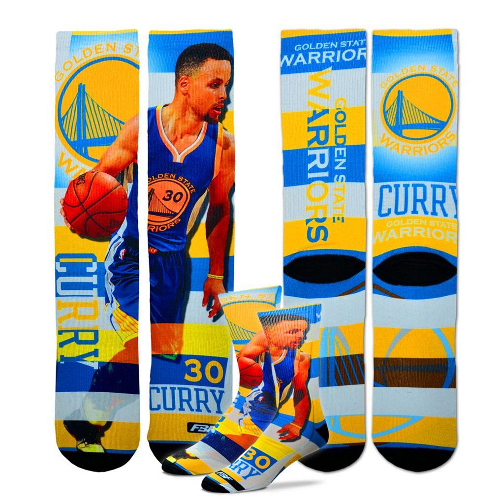 Men's For Bare Feet Golden State Warriors Stephen Curry Pro Stripe Crew Socks