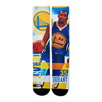 Men's For Bare Feet Golden State Warriors Kevin Durant Pro Stripe Crew Socks