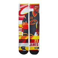 Men's For Bare Feet Cleveland Cavaliers LeBron James Pro Stripe Crew Socks