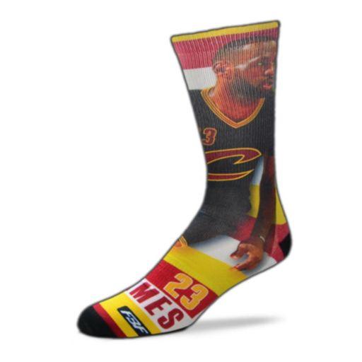 Men's For Bare Feet Cleveland Cavaliers LeBron James Pro Stripe Crew Socks