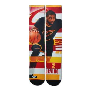 Men's For Bare Feet Cleveland Cavaliers Kyrie Irving Pro Stripe Crew Socks