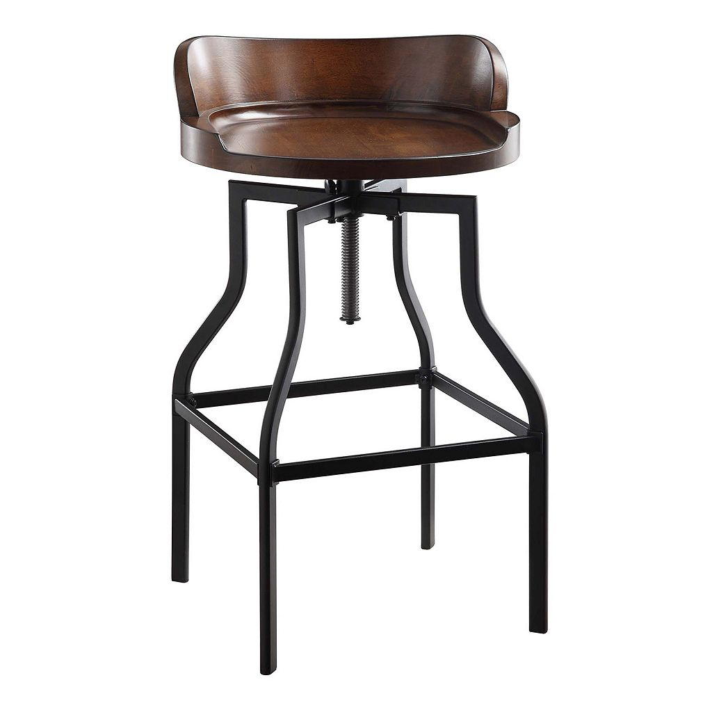 Marais Rustic Industrial Adjustable Stool