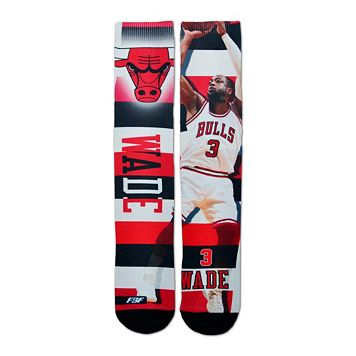 Men's For Bare Feet Chicago Bulls Dwyane Wade Pro Stripe Crew Socks