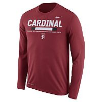 Men's Nike Stanford Cardinal Dri-FIT Legend Staff Long-Sleeve Tee