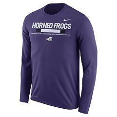 Men's Nike TCU Horned Frogs Dri-FIT Legend Staff Long-Sleeve Tee