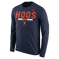 Men's Nike Virginia Cavaliers Dri-FIT Legend Staff Long-Sleeve Tee