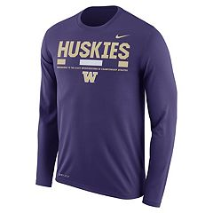 Men's Nike Washington Huskies Dri-FIT Legend Staff Long-Sleeve Tee