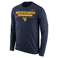 Men's Nike West Virginia Mountaineers Dri-FIT Legend Staff Long-Sleeve Tee