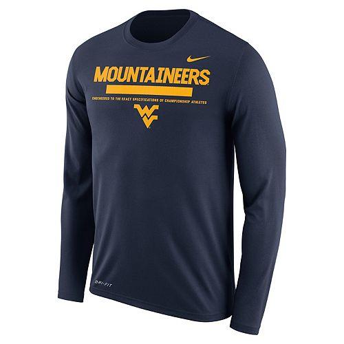 Men's Nike West Virginia Mountaineers Dri-FIT Legend Staff Long-Sleeve Tee
