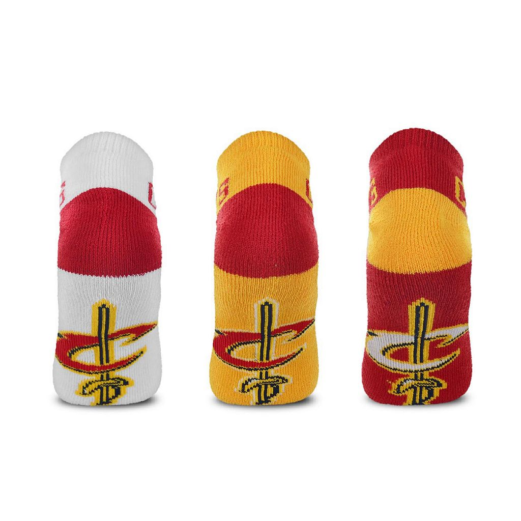 Men's For Bare Feet Cleveland Cavaliers 3-Pack Low-Cut Socks