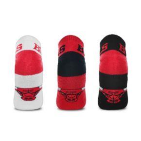 Men's For Bare Feet Chicago Bulls 3-Pack Low-Cut Socks