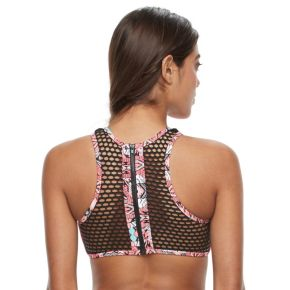 Mix and Match High-Neck Crocheted Bikini Top