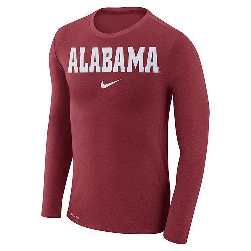 Men's Nike Alabama Crimson Tide Marled Long-Sleeve Dri-FIT Tee
