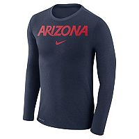 Men's Nike Arizona Wildcats Marled Long-Sleeve Dri-FIT Tee