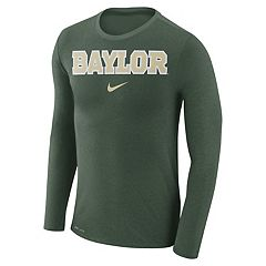 Men's Nike Baylor Bears Marled Long-Sleeve Dri-FIT Tee