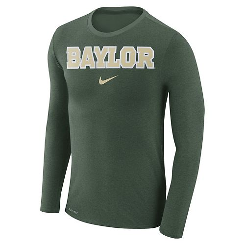 Men's Nike Baylor Bears Marled Long-Sleeve Dri-FIT Tee