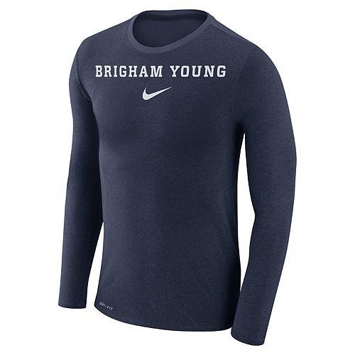 Men's Nike BYU Cougars Marled Long-Sleeve Dri-FIT Tee
