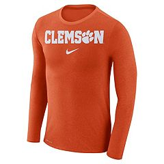 Men's Nike Clemson Tigers Marled Long-Sleeve Dri-FIT Tee