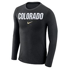 Men's Nike Colorado Buffaloes Marled Long-Sleeve Dri-FIT Tee