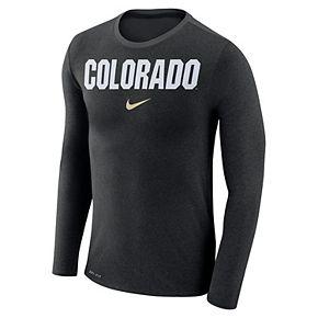Men's Nike Colorado Buffaloes Marled Long-Sleeve Dri-FIT Tee