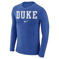 Men's Nike Duke Blue Devils Marled Long-Sleeve Dri-FIT Tee