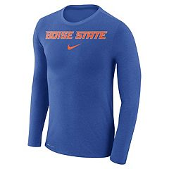 Men's Nike Boise State Broncos Marled Long-Sleeve Dri-FIT Tee