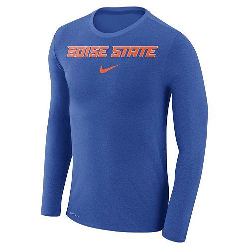 Men's Nike Boise State Broncos Marled Long-Sleeve Dri-FIT Tee
