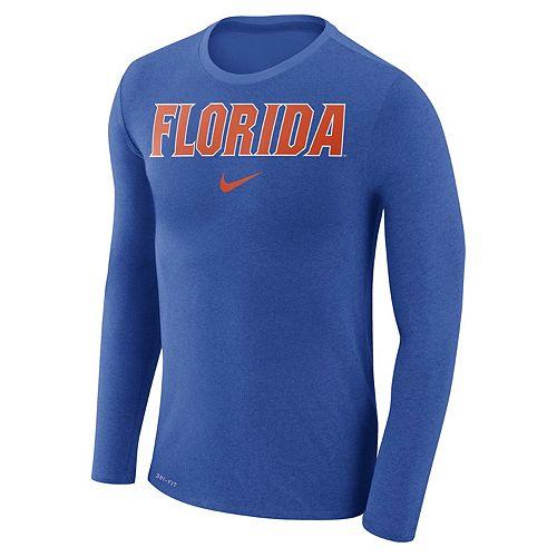 Men's Nike Florida Gators Marled Long-Sleeve Dri-FIT Tee