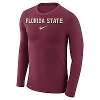 Men's Nike Florida State Seminoles Marled Long-Sleeve Dri-FIT Tee
