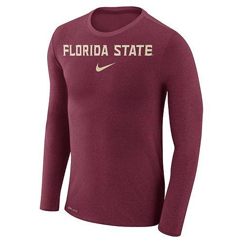 Men's Nike Florida State Seminoles Marled Long-Sleeve Dri-FIT Tee